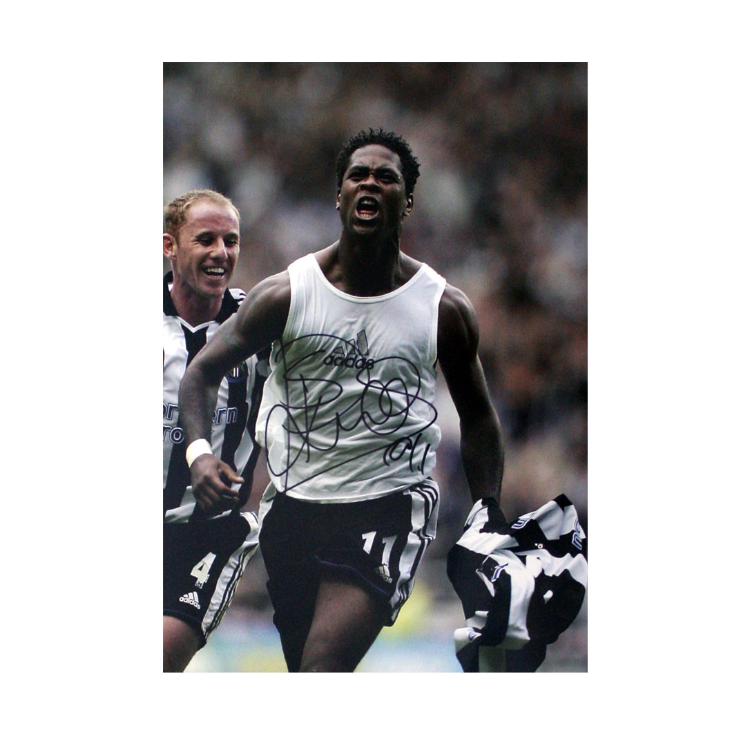 Kluivert Signed Photo - Celebrating A Goal For Newcastle