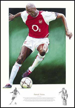 Viera and#8211; Limited edition print signed by Patrick Viera