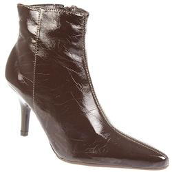 Female Brio801 Textile Lining Ankle in Brown Patent