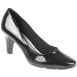 Female Brio803 Textile Lining Comfort Courts in Black Patent, Burgandy Patent