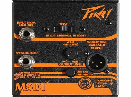 Peavey MSDI(TM) Microphone Simulated Direct Interface