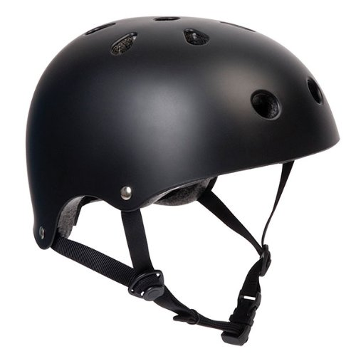 Matt Black BMX Bike/Skate Helmet - Large