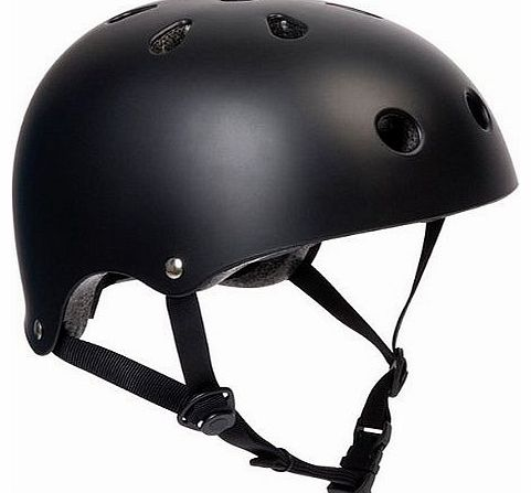 Matt Black BMX Bike/Skate Helmet - Medium