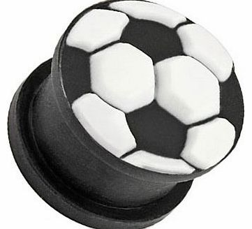 8mm Flexible Silicone Football Fan World Cup Plug Flesh Tunnel Lots of Other Sizes Available in our Pegasus Body Jewellery Amazon Shop
