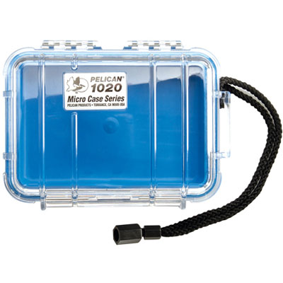 Peli 1020 Microcase Clear with Blue Liner