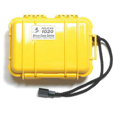 Peli 1020 Microcase Yellow with Black Liner