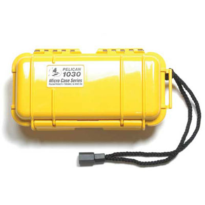 Peli 1030 Microcase Yellow with Black Liner