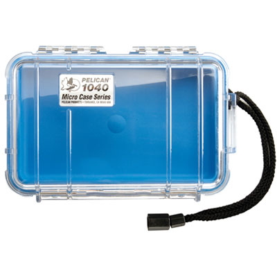 Peli 1040 Microcase Clear with Blue Liner