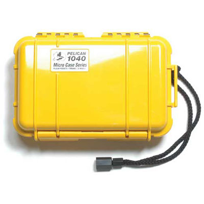Peli 1040 Microcase Yellow with Black Liner