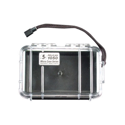 Peli 1050 Microcase Clear with Black Liner