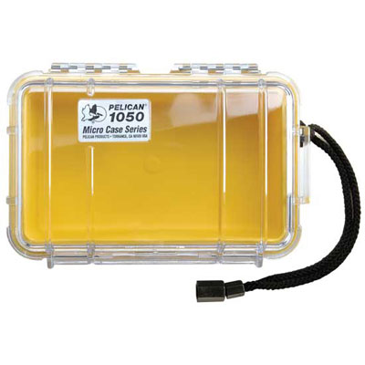Peli 1050 Microcase Clear with Red Liner