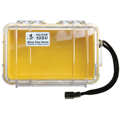 Peli 1050 Microcase Clear with Yellow Liner