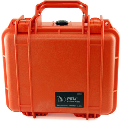 Peli 1300 Case with Foam Orange