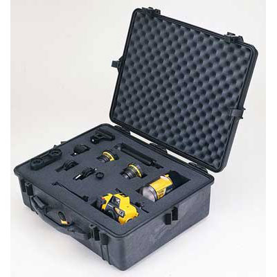 Peli 1600 Case with Foam Black