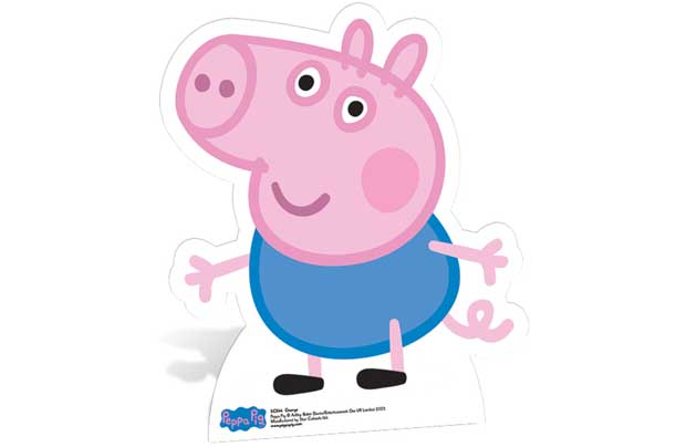 Pig Life-Sized George Pig Cutout