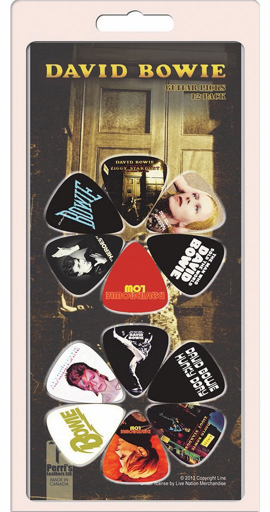 David Bowie Album Covers Set Of 12 Plectrums