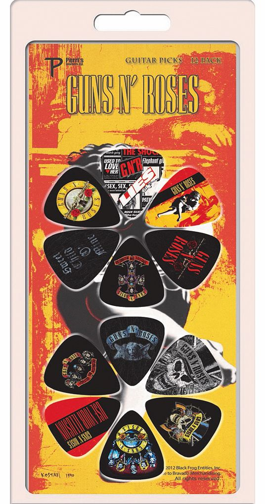 Guns N Roses Set Of 12 Plectrums