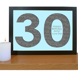 30th Birthday Print