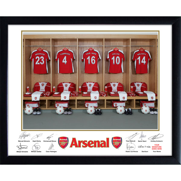 Arsenal Dressing Room Framed Photo