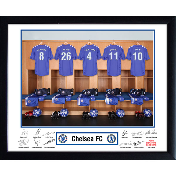 Chelsea Dressing Room Framed Photo