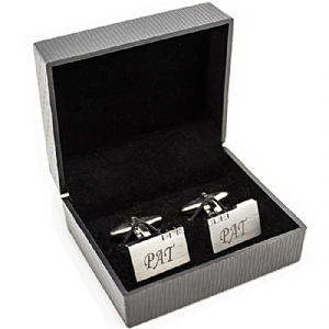 Crystal Engraved Cufflinks