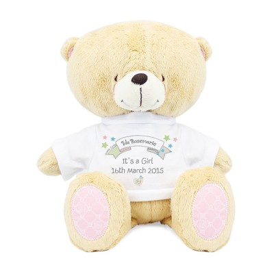 Personalised Forever Friends New Born Bear