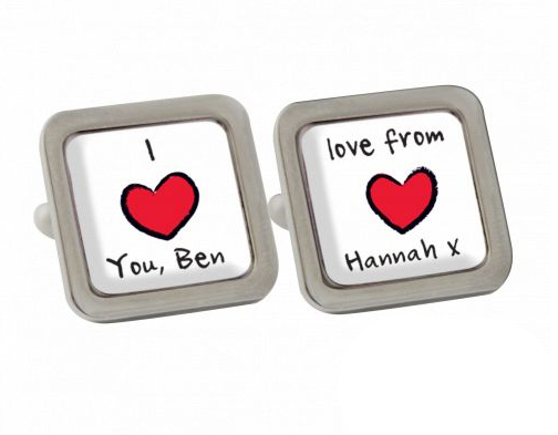 I Love You Personalised Cufflinks