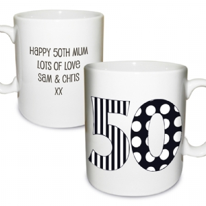 Monotone Birthday Mug