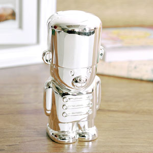 Silver Plated Toy Soldier Bear