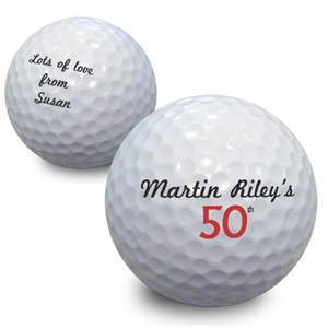 Small Birthday Numbers Golf Ball