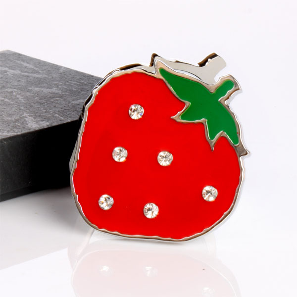 Strawberry Shaped Compact Mirror