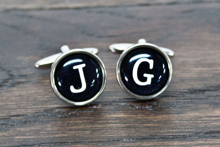 Typewriter Key Style Cufflinks PTA166