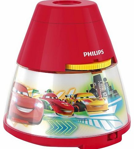 Disney Cars Childrens Night Light and Projector - 1 x 0.1 W Integrated LED
