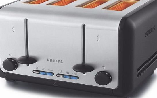 Philips HD2647 4 Slice Brushed Metal Toaster