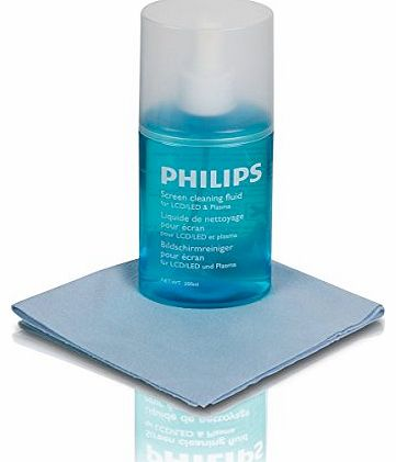 Philips SVC1116/10 Screen Cleaner for LCD/Plasma/LED TVs with Microfiber Cloth