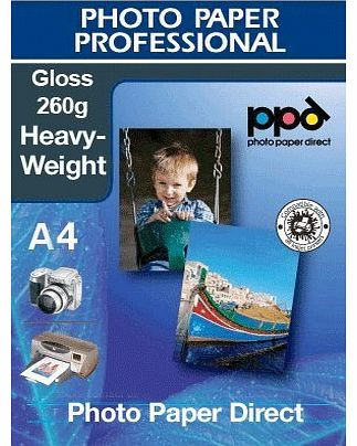 A4 inkjet Glossy Photo Paper Heavyweight 260g X 100 Sheets