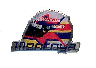 BMW Williams Montoya Helmet Pin Badge