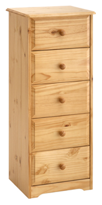 Chest of Drawers 5 Drawer Narrow Balmoral