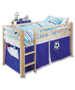 Mid Sleeper Blue Footy Tent Slide