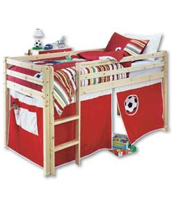 Mid Sleeper Red Footy Tent Slide