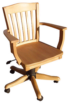 pine OFFICE CHAIR HEAVY SLAT