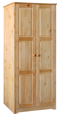 WARDROBE 2 DOOR ALL HANGING BALMORAL VALUE