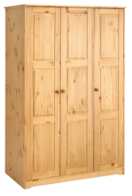 WARDROBE 3 DOOR ALL HANGING BALMORAL