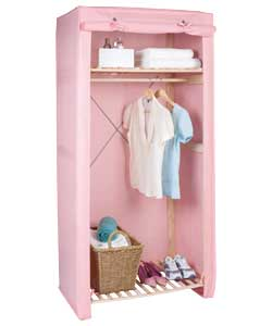 pink canvas and wood wardrobe with shelf review compare. Black Bedroom Furniture Sets. Home Design Ideas