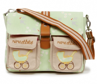 Maman & Bebe Messenger Bag - Grey