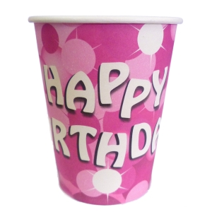 Sparkle Happy Birthday Cups - Pack of 8