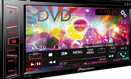 Pioneer AVH-270BT 6.2-Inch Touchscreen CD/DVD Player with Bluetooth, USB, Aux-In and Video Out
