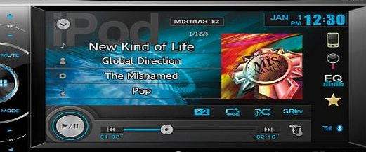 Pioneer AVH-X2600BT CD/DVD Tuner with 6.1 inch Touchscreen with Bluetooth, Mixtrax EZ, USB/Aux, AppRadio Mod