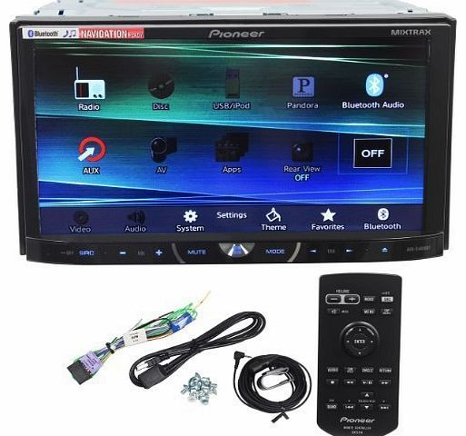 Pioneer AVH-X4600BT 7`` Double Din Car Stereo Receiver Bluetooth, Siri ``Eyes-Free``, APP Radio Mode, Pandor