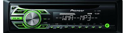 Pioneer CD RDS Tuner with WMA/MP3 Playback and Front Illuminated Aux-In - Green